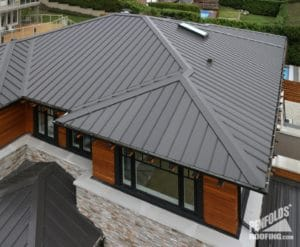 Penfolds Roofing - New Roof Construction - Ziplok Metal Roofing Charcoal - 4