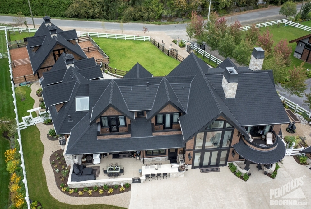 Penfolds Roofing - New Roof Construction - Eco Roof Heavy Shake Black - 24